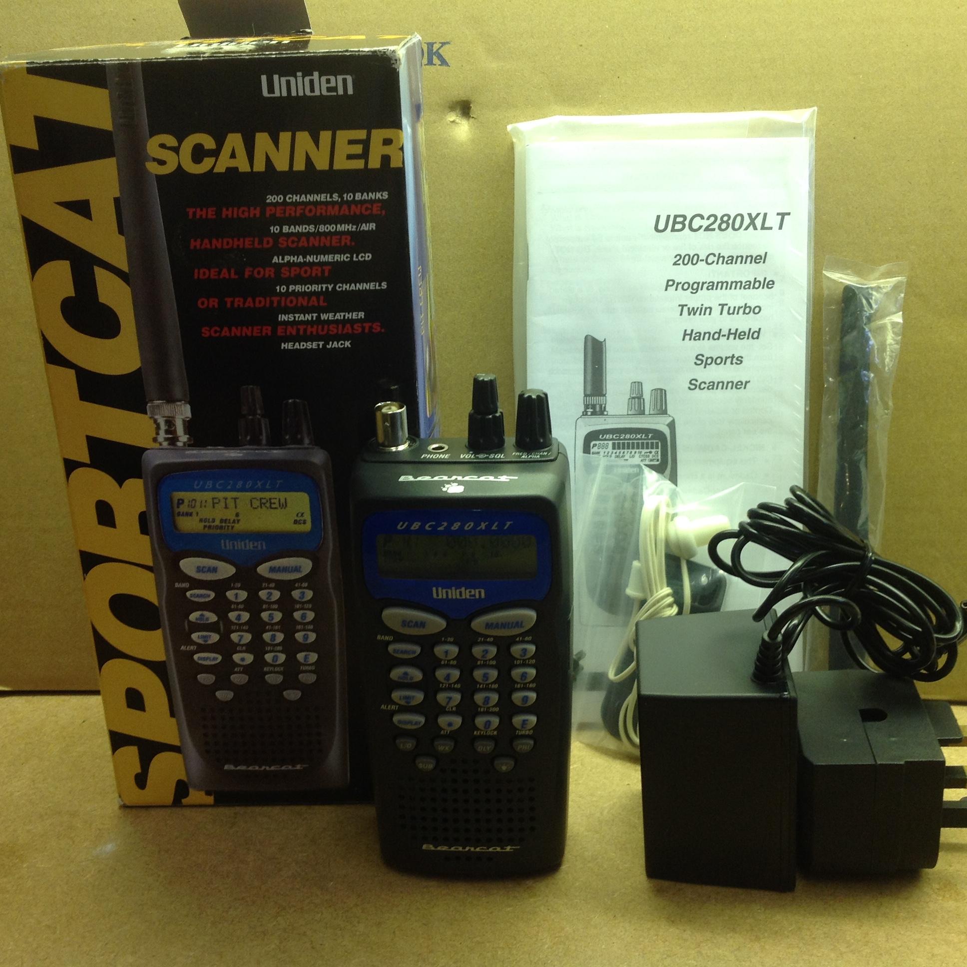 uniden sportcat ubc280xlt handheld scanner shortwave co uk rh shortwave co uk Uniden Sportcat Twin Turbo Sc180 Uniden Bearcat
